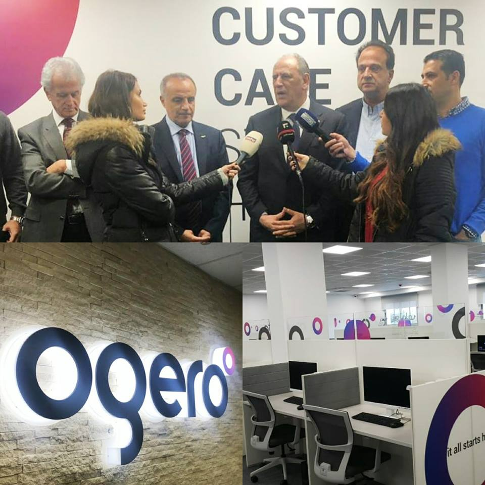 Minister Jarrah visiting Ogero's new Customer Care center!