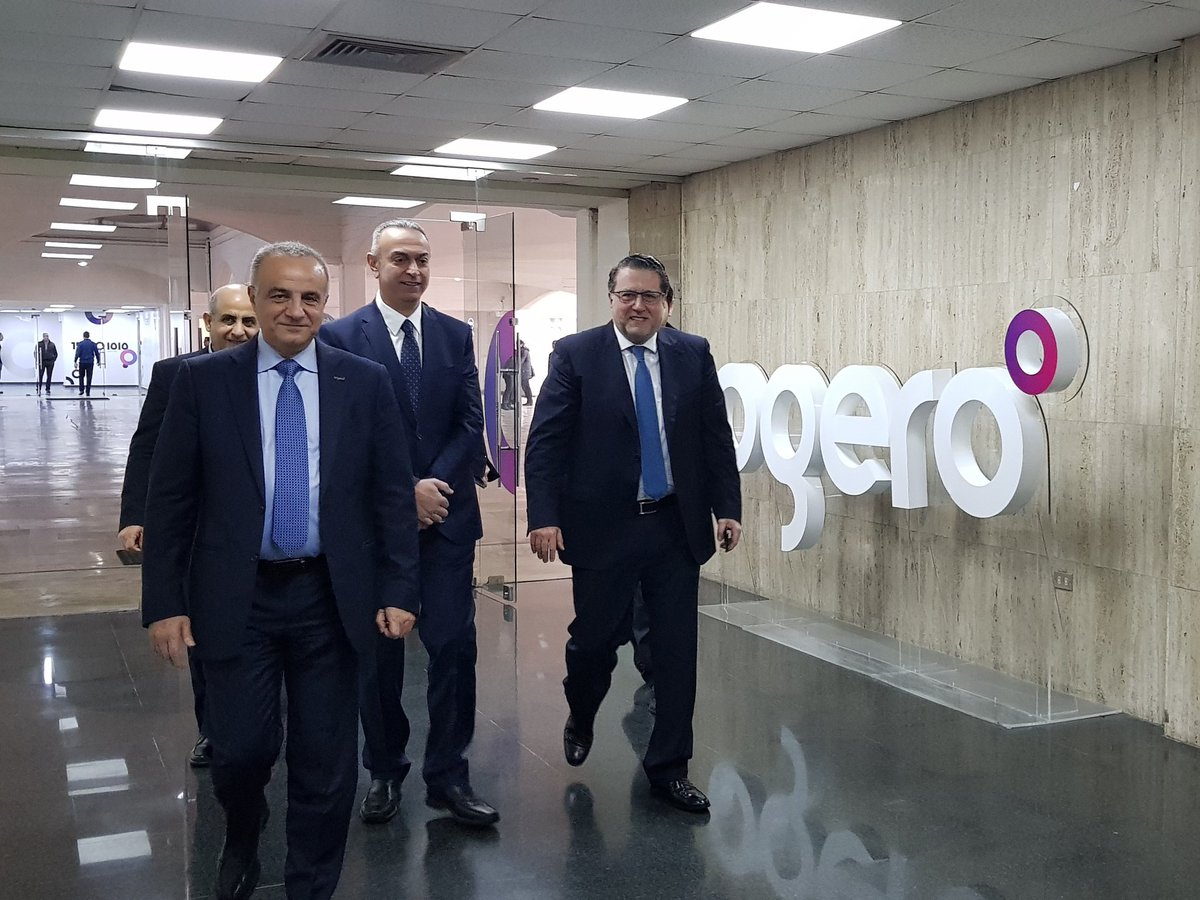 Minister Mohammad Choucair Pays a visit to the newly opened Ogero call Center